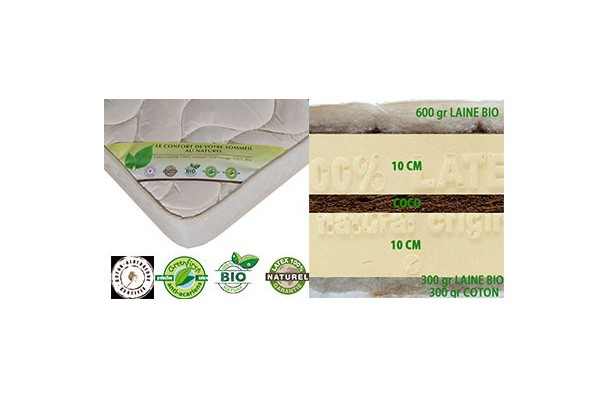 Matelas Latex Naturel Bio 140x190 Prestige Latexnaturelmat Com