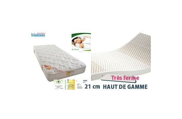 matelas latex haut de gamme tr s ferme. Black Bedroom Furniture Sets. Home Design Ideas