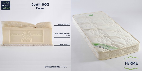 matelas latex naturel 140x190. Black Bedroom Furniture Sets. Home Design Ideas