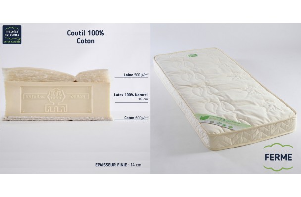 Matelas latex naturel 140x190 Bio Charme
