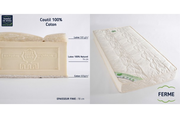 Matelas Latex Naturel 140x190 Bio Elegance Latexnaturelmat Com